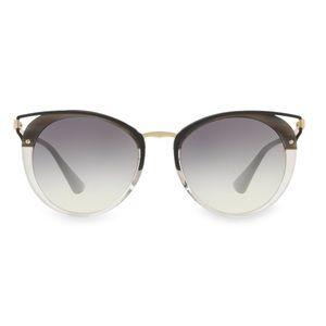 PRADA 54MM Cutout Cat Eye Sunglasses Striped Grey